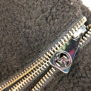 MICHAEL Michael Kors Shoes - Michael Kors Sz 10 Black wedge Sherpa booties